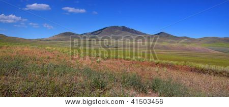 Prairie landscape in Wyoming near Jackson Hole