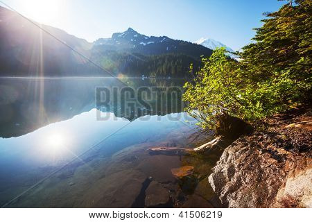 lake in mountains,Mt.Rainier MP