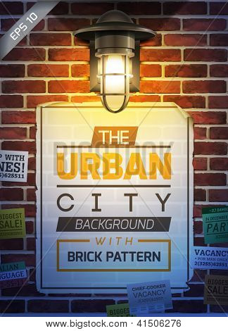 Urban wall poster