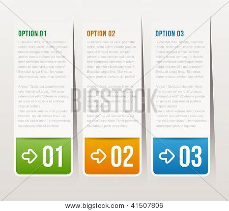 one, two, three options - Vector graphic design