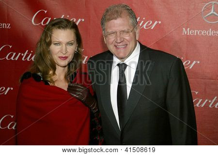 PALM SPRINGS, CA - JAN 5: Robert Zemeckis & Leslie Zemeckis at the 2013 Palm Springs International Film Festival's Awards Gala on January 5, 2013 in Palm Springs, CA.