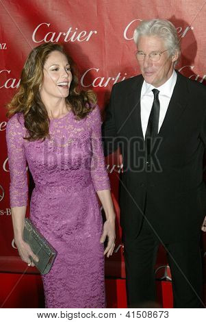 PALM SPRINGS, CA - JAN 5: Diane Lane and Richard Gere arrive at the 2013 Palm Springs International Film Festival's Awards Gala on Saturday, January 5, 2013 in Palm Springs, CA.