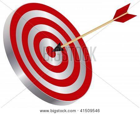 Flecha en blanco Bullseye ilustración