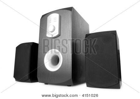 Music. Speakers Isolated