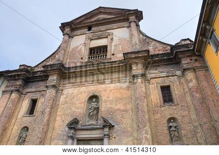 Church of Carmine. Piacenza. Emilia-Romagna. Italy.