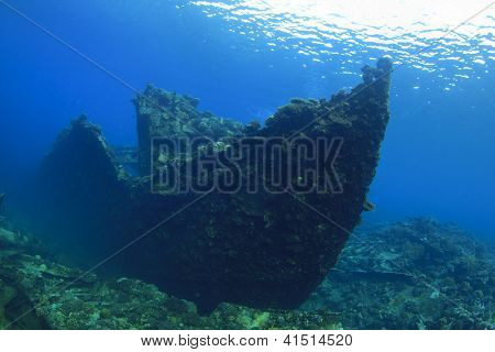 Underwater Shipwreck of Chrisoula K in Red Sea, Egypt