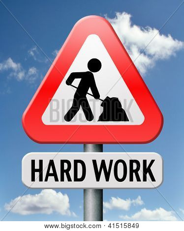 hard work busy with important job working sign