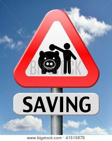 sparen Geld im Sparschwein Depotkonto mit Sparplan