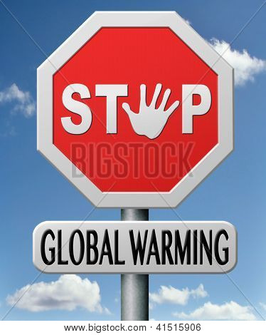 stop global warming and green house effect no pollution