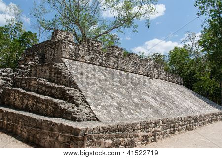 Mayan Game Field In Coba