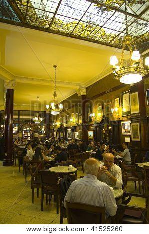 Cafe Tortoni, Buenos Aires, Argentina.