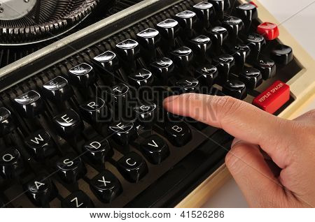 Woman Hand Typing