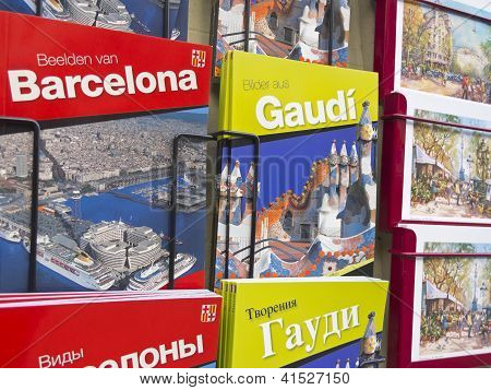 Souvenir shop in Barcelona