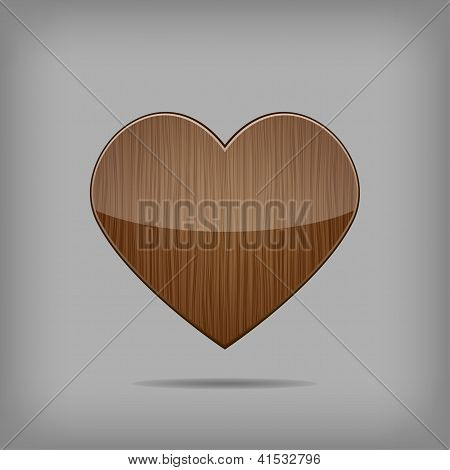 Vector Wooden Heart.