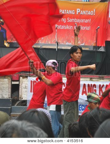 Street Play Flag Dance Of Red Youth Artist