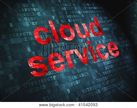 Cloud computing technology, networking concept: Cloud Service on