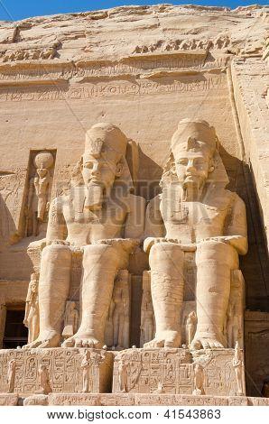 Statues of Ramesses II at Abu Simbel, Egypt