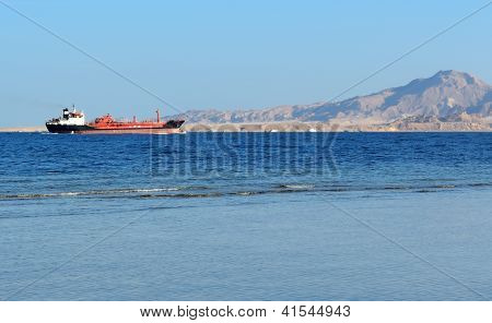 The Tanker Transports Liquefied Petroleum Gas, Sharm El Sheikh, Egypt