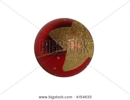 Cristmas Ball Isolated On White