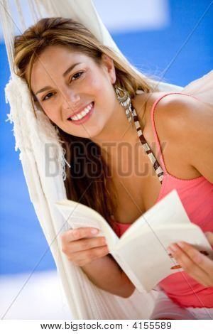 Woman On Vacation Reading