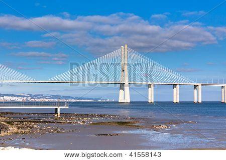 Vasco Da Gama Bridge (ponte Vasco Da Gama), Lisbon