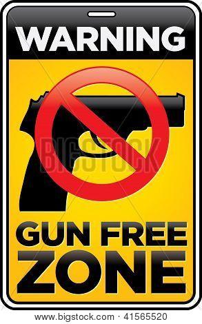 Gun Free Zone Sign