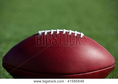 American Football on the Field with Room for Copy Above