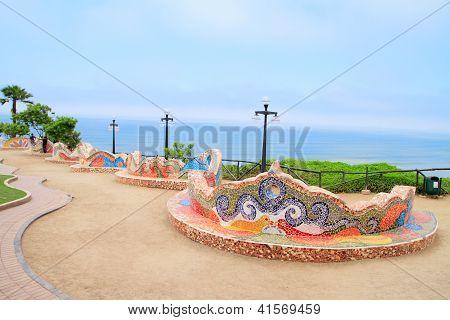 El Parque del Amor, en Miraflores, Lima, Perú