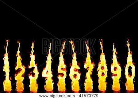 Photo of Burning candles 0-9