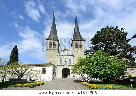 Luzerne - Hofkirche cathedral, Switzerland