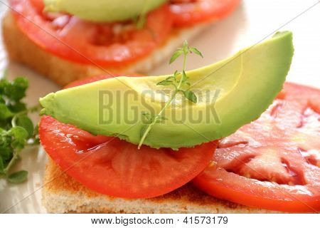 Avocado On Tomato