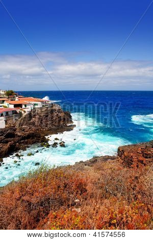 La Palma Santa cruz volcanic stone atlantic coast beach in Canary Islands