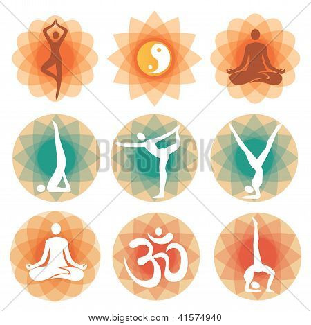 Yoga positions backgrounds