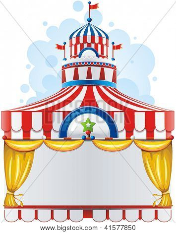 Circus background with space for text. Decoration vector illustration.