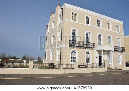 Rectangular coastal town house