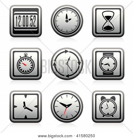 Vector Clock And Time Symbols
