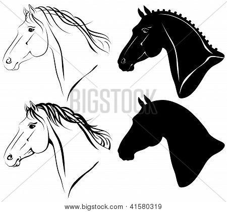 Horse Heads Set