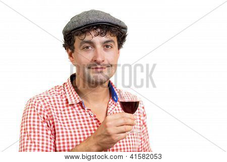 French Man And Wine