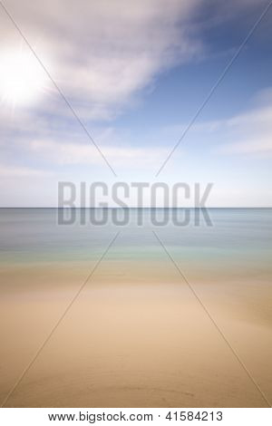Sea beach and sun background