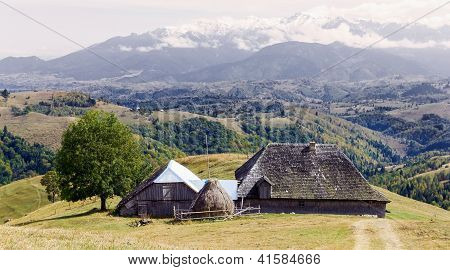 Old Traditional House From Carpathian Mountains