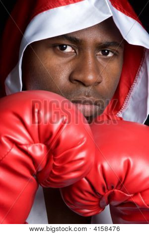 Robed Boxing Competitor