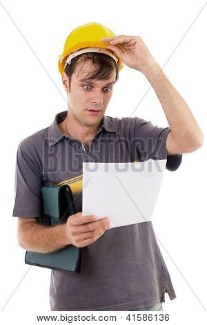 Young engineer with hardhat
