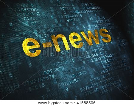 News concept: E-news on digital background