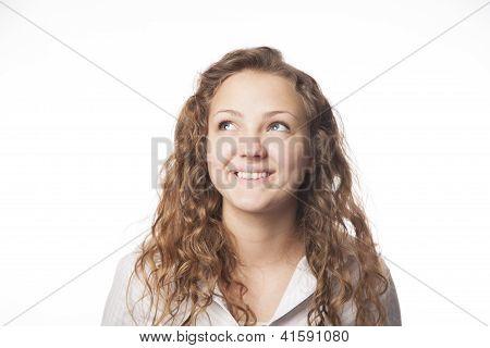 Beautiful Teenage Girl Smiles