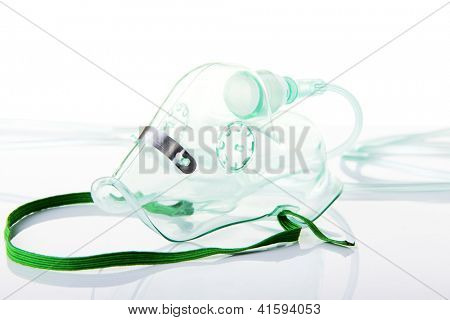 Oxygen mask on white