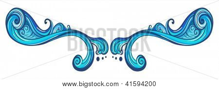 Illustration of a blue border on a white background