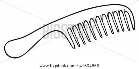 Illustration of a hair brush on a white background