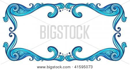 Illustration of a bold border on a white background