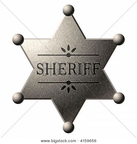 Shield of Sheriff. Vector.