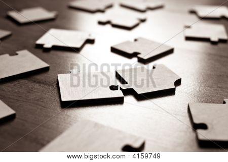 Jigsaw Puzzles Closeup